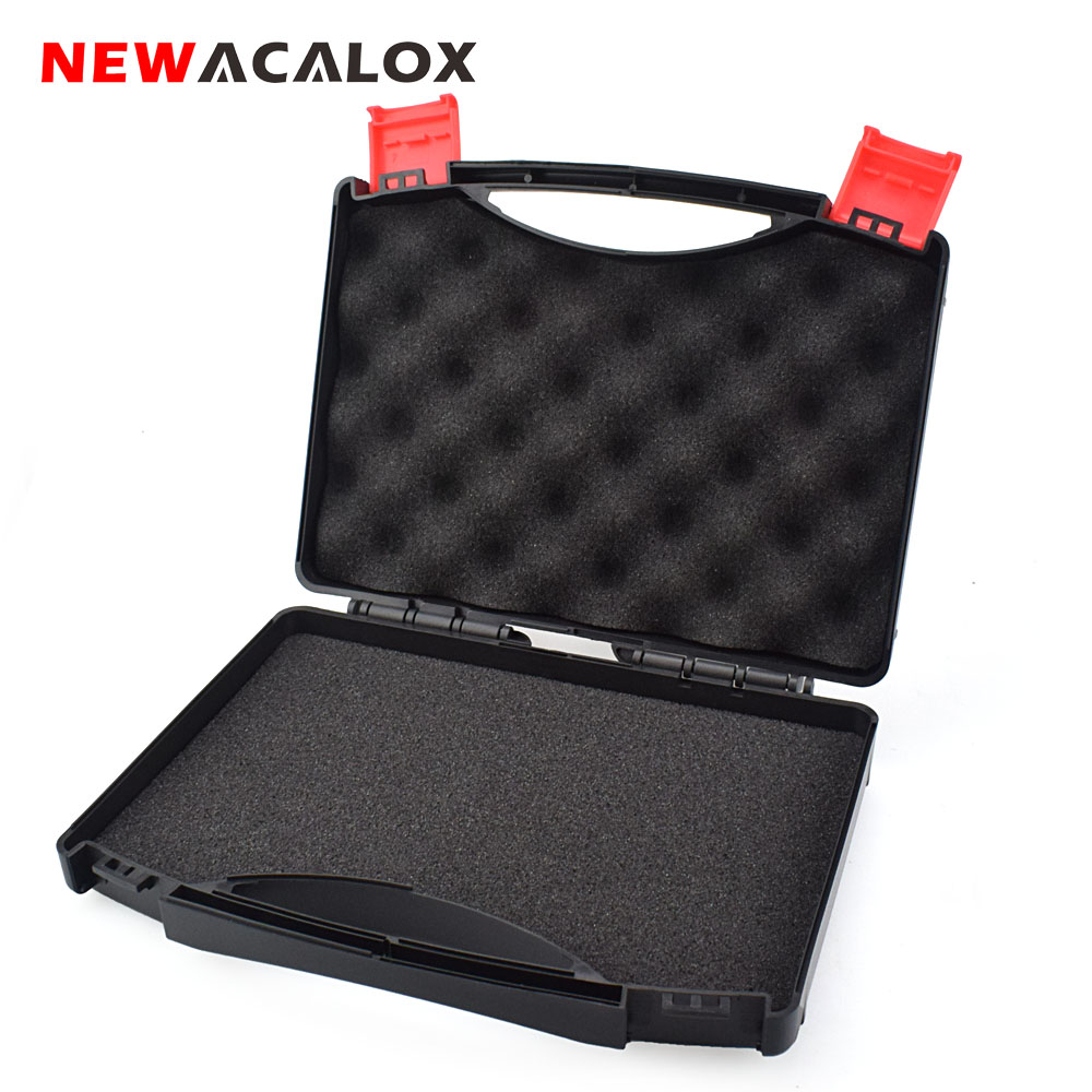 NEWACALOX Plastic Storage Case Tool Box with Sponge Mats Protecting Tools Multi-function Repair Toolbox for Hardware Tools