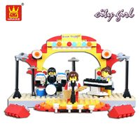 WANGE Friends Series Building Blocks Compatible Bricks Girl Band Singing Dancing Stage Plastic Assembly Toys Kids
