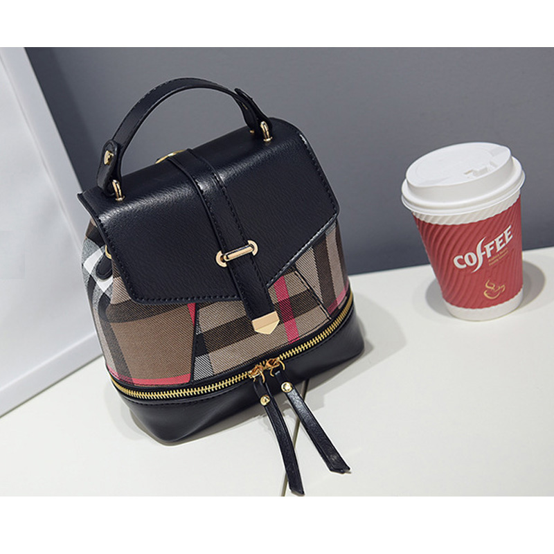 2016 new parquet shoulder  shoulder bag fashion small fresh bag Miss Han Banchao dual backpack