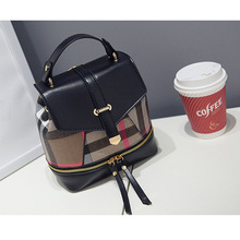2018 new parquet shoulder  shoulder bag fashion small fresh bag Miss Han Banchao dual backpack