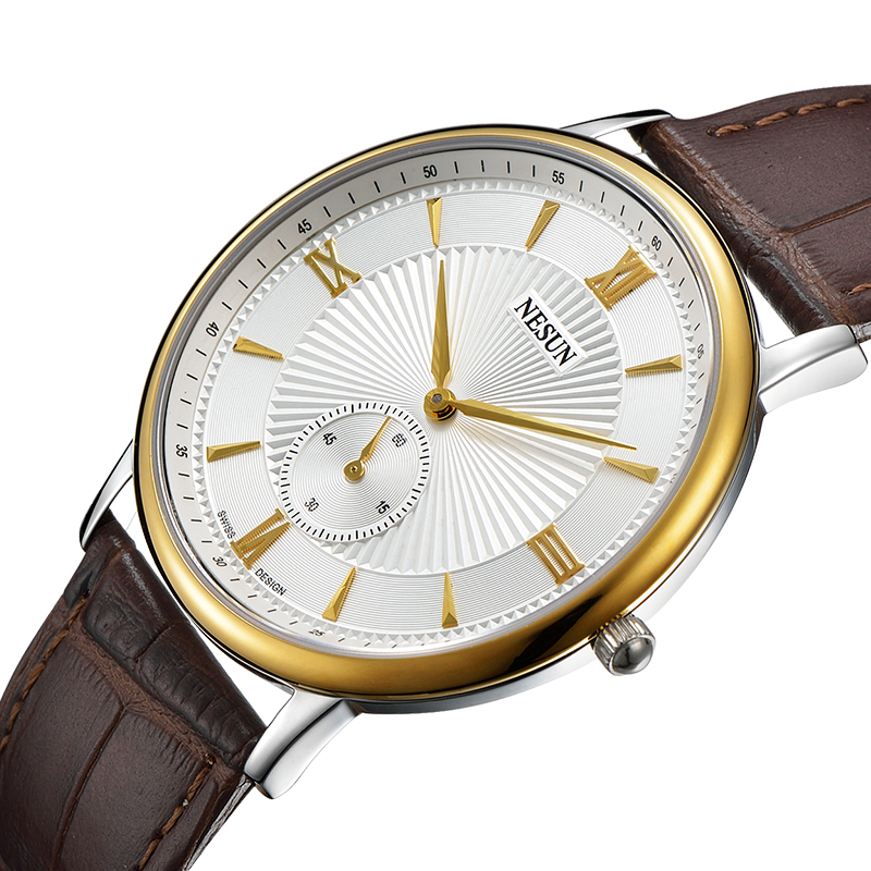 Nesun Switzerland Luxury Brand Watch Men Japan MIYOTA Quartz Movement Men's Watches Genuine Leather Waterproof Clock N8501-LM3