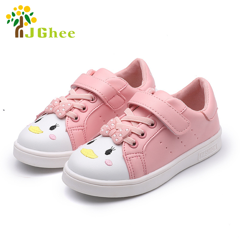 J Ghee Shoes For Girls Kids Casual Sneakers Sports Running Shoes Children School Shoes With Cute Bow-knot Canvas Shoes Sneakers