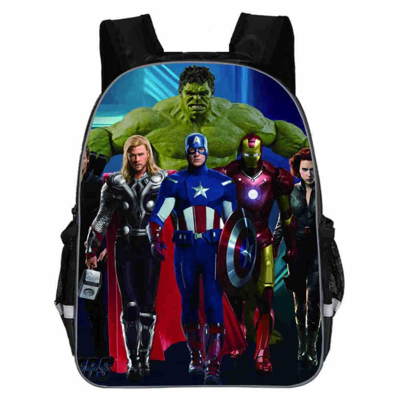 Infinity <font><b>War</b></font> Print Backpack For Teenagers <font><b>Avatar</b></font> Bag For Children Boys Girls School Bookbags For Kids Movie Bags image