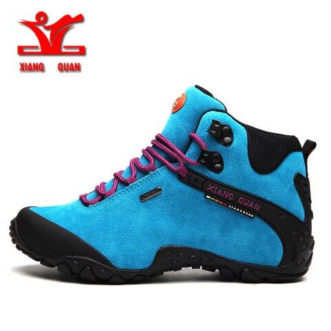 XIANGGUAN 2018 Women Hiking Shoes Outdoor Hunting Boots Waterproof Mountaine Shoes For Women Climbing shoes Free Shipping Lahore