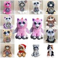 Lensple Hot Sales Birthday Christmas Halloween Gifts Feisty Pets Change Face Interesting Cute Soft Stuffed Plush