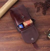 Belt Clip Man Genuine Cow Leather Mobile Phone Case Pouch For Xiaomi Mi 5 5s 5c