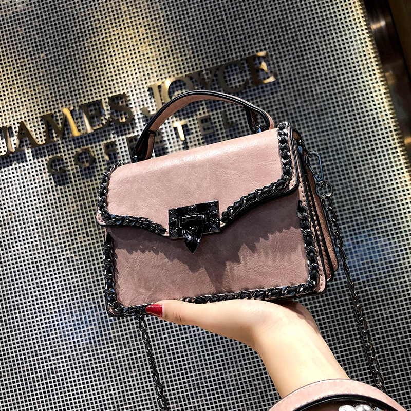 Retro Fashion Female Square Bag Women's Designer Handbag Quality Leather Women Bag Chain Tote Shoulder Messenger gg louis bag стоимость