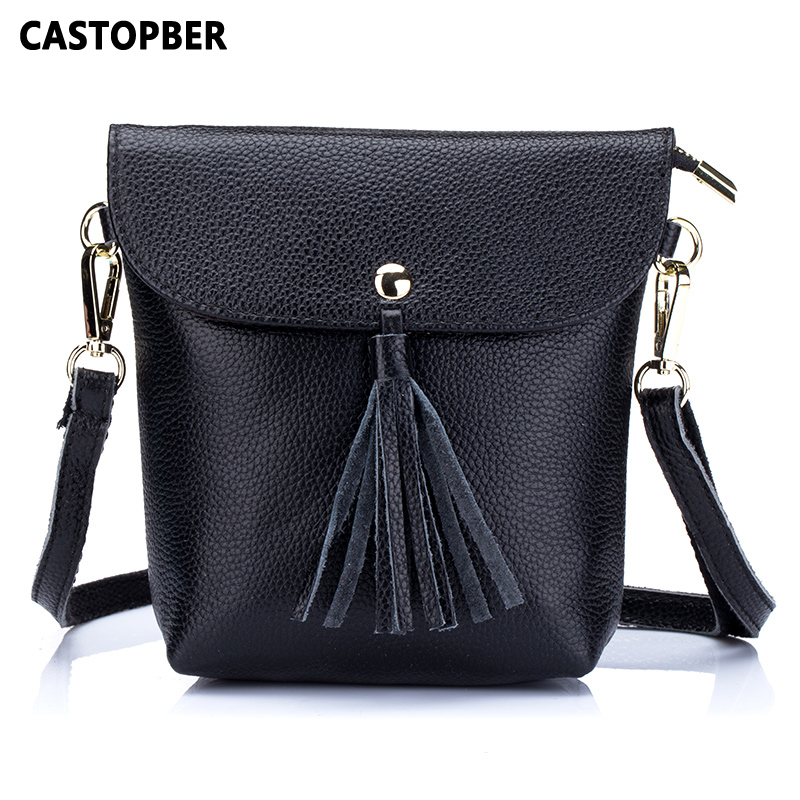 Women Tassel Bags Shoulder Bag Messenger Fashion Designer Crossbody Handbag Cowhide Genuine Leather Female High Quality Famous
