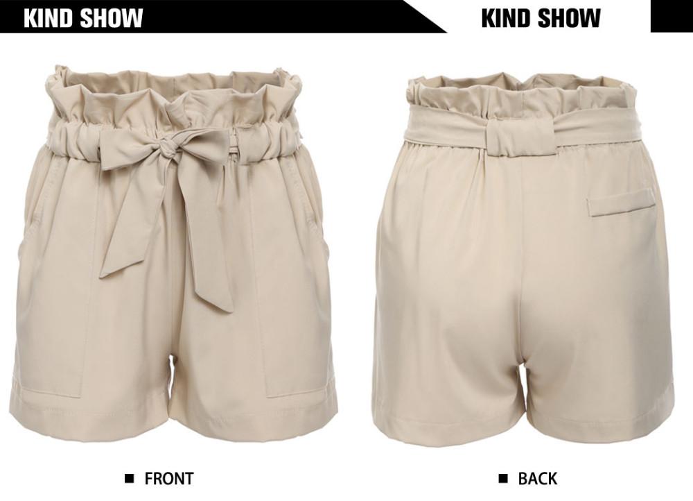 HTB1R7L7NXXXXXcRXVXXq6xXFXXXO - High Waist Shorts Loose Shorts With Belt Woman PTC 59