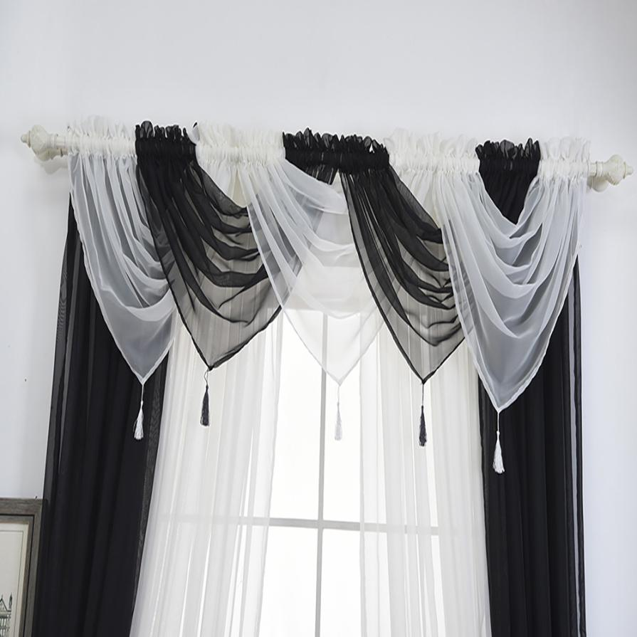 Tenske 2018 New Modern Exotic Style Voile Curtain Swags All