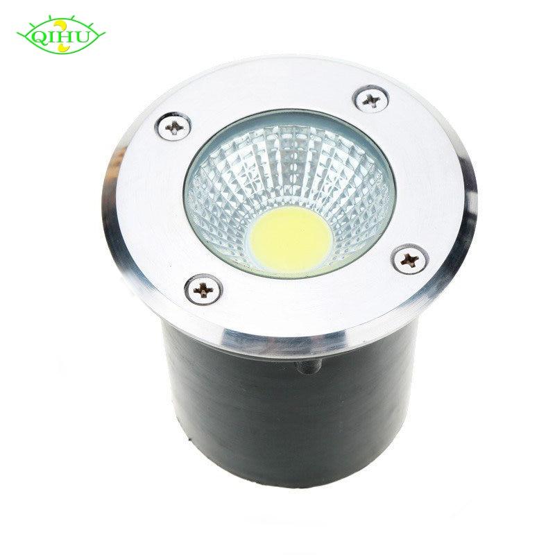 AC85-265V IP68 5W 10W Buried Lamp Inground Lighting Outdoor COB LED Underground Lamp Light DC12V Garden Light Yard R G B