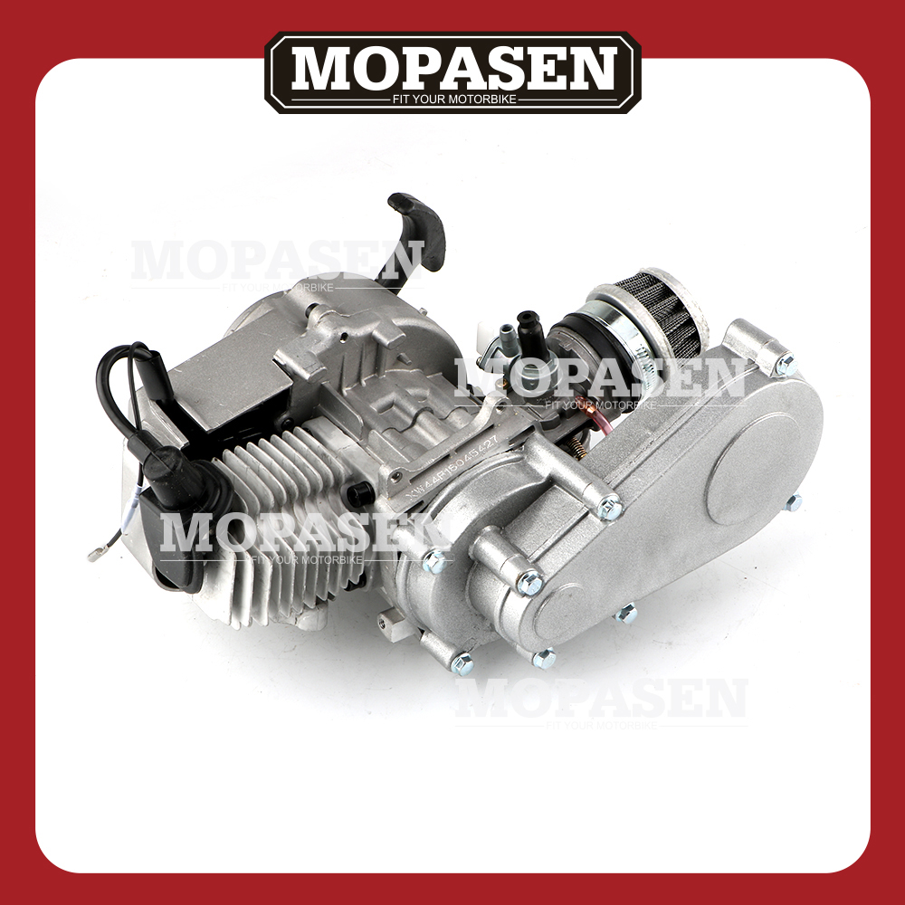49CC 2 Stroke Engine w/Automatic Transmission for SSR SX50 QG50 QG50X and Pocket Mini ATVs Scooter Motorcycle Engine Parts