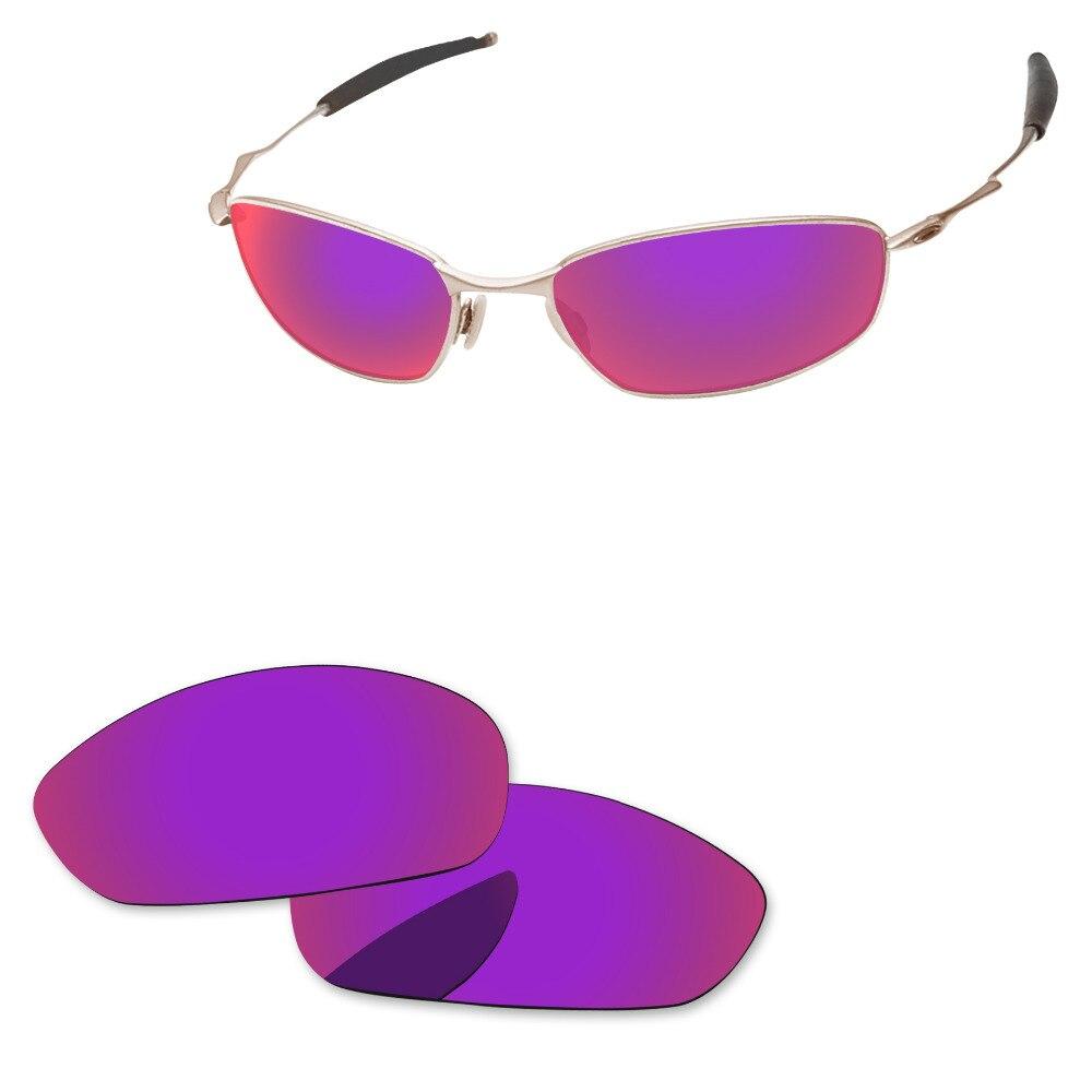 Lila Rot Spiegel Polarisierte Ersatz Linsen Für Whisker Sonnenbrille Rahmen 100% Uva & Uvb Schutz