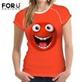 Forudesigns mujeres 3d emoji cara de impresión camiseta casual de manga corta t shirt clothing hombres crossfit gimnasio tops transpirable s-xxl
