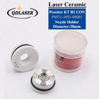 Laser Ceramic 28mm/24.5mm OEM Precitec Lasermech KT B2 CON P0571 1051 00001 Nozzle Holder For Fiber Laser Cutting Head