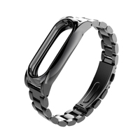 For Xiaomi Mi Band 2 Strap Metal Screwless Stainless Steel Bracelet For MiBand 2 Wristbands Replace