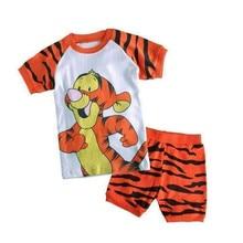 Купить с кэшбэком children boys clothing sets cotton short sleeved summer cartoon tortoise baby clothing new year girls pajamas suits