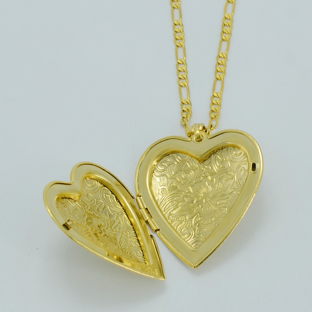 Anniyo Big Heart Pendant Necklaces Gold Color Love Jewelry ...
