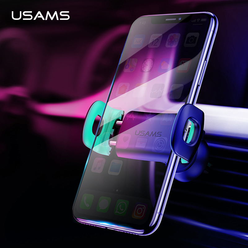 USAMS Car Phone Holder for iPhoneX 8 7 6 Adjustable Air Vent Mount Car Holder 360 Degree Rotation Support Mobile Car Phone Stand-in Phone Holders & Stands from Cellphones & Telecommunications