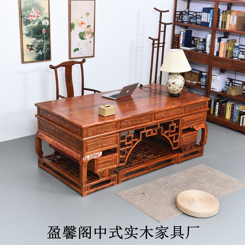 table ming and qing antique furniture elm wood two meters all solid office desk writing brain antique office table