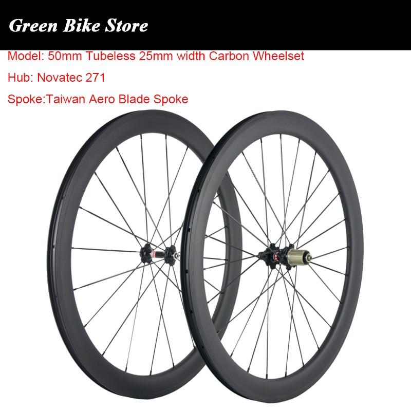 Super light Powerway R13 Carbon Bicycle Wheelset Road Bike Wheels 50mm Carbon Wheels 25mm U Shape