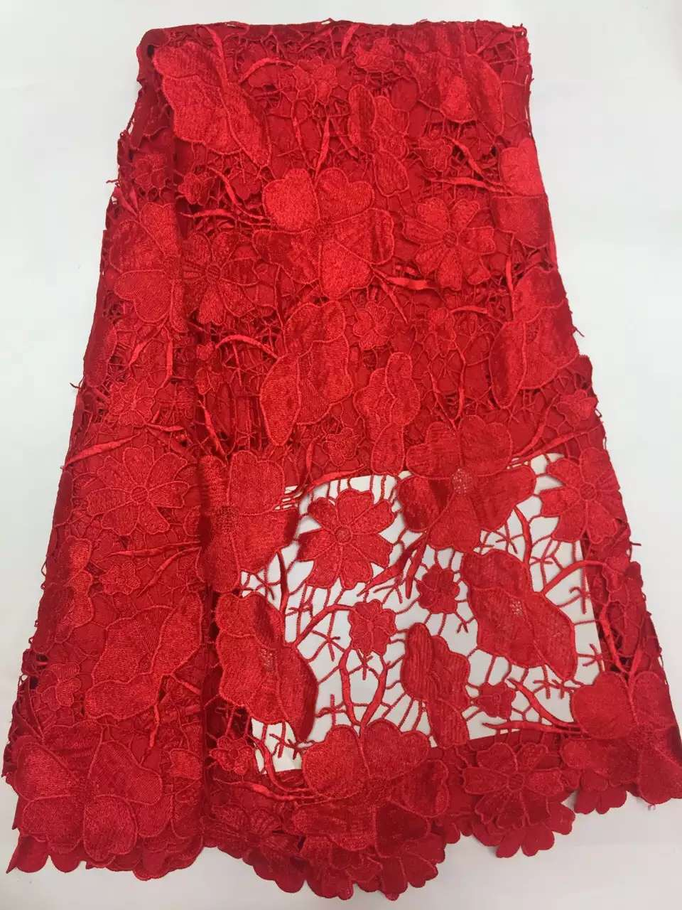 Hot High Quality  African Water soluble lace  Guipure Cord Lace - Arts, Crafts and Sewing - Photo 1