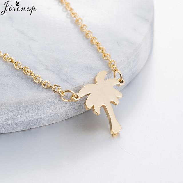 Jisensp boho choker gold island life palm tree necklace for women jisensp boho choker gold island life palm tree necklace for women tattoo choker gift coconut tree aloadofball Choice Image