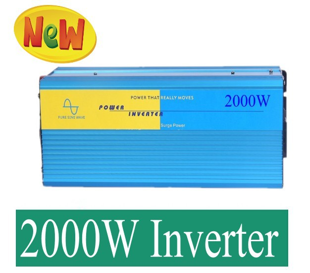 цена на Pure Sine Wave Power Inverter 2000W DC12V DC24V DC48V Off Grid Tie Power Inverter, Wind Solar Power Inverter