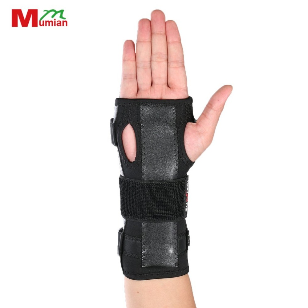 Mumian Adjustable Breathable Training Exercises Wristband Aluminum Strip Wrist Wraps Bandage Hand Brace Drop Shipping