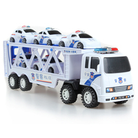 Small Truck Police Car Toy Police Super Police Car Wagon Inertia Car Educational Toy Diecasts Toy