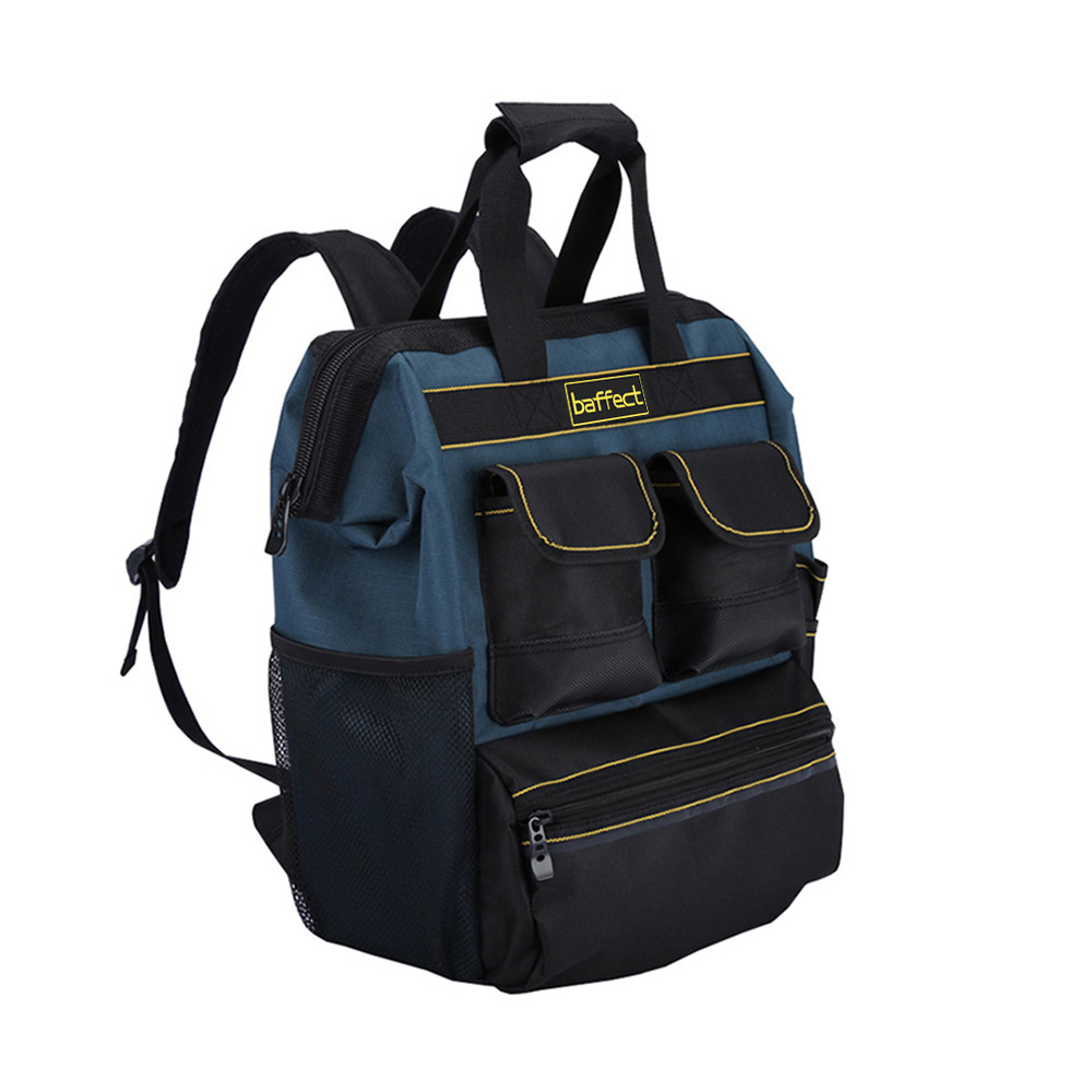 Baffect Tool Backpack with Tool Organiser Electrician Tool Bag for Storage Tradesman Organizer Bag Technician Bag
