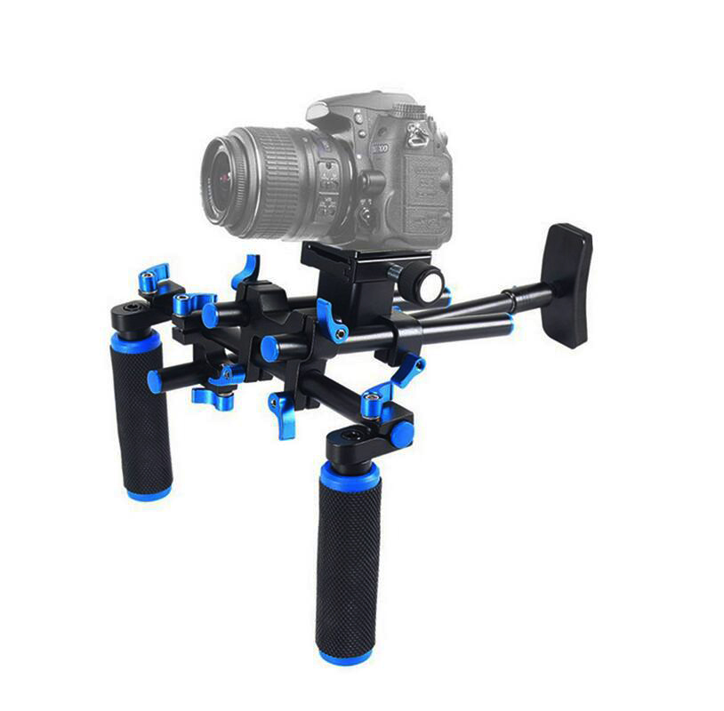 Dual Handle Shoulder Stabilizer/Bracket Video Shooting Steady Video Camera Photo Studio Accessories FOR Canon Sony Nikon DSLR цена