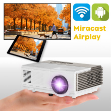 android wifi 1500 Lumen Mini LED Projector USB/HDMI/VGA Interface Ideal for Movie Night Full HD 1080P