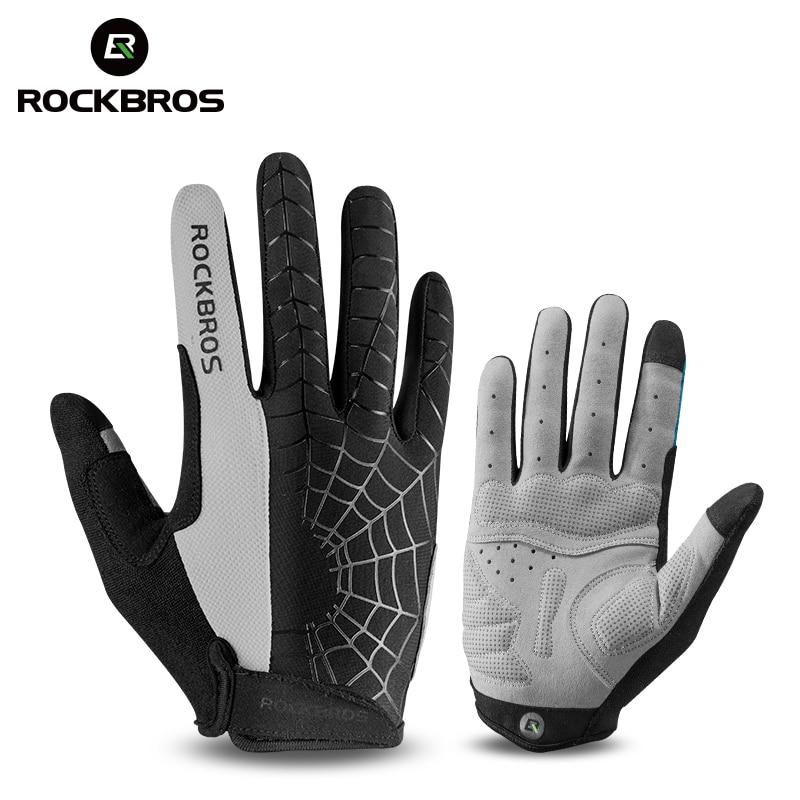 Велосипедные перчатки ROCKBROS, ветрозащитные перчатки с сенсорным экраном для езды на горном велосипеде, теплая мотоциклетная одежда на зиму ...