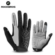ROCKBROS ветрозащитный Велоспорт велосипедный спорт Прихватки для мангала сенсорный экран верховой езды горный велосипед перчатки термальность теплы