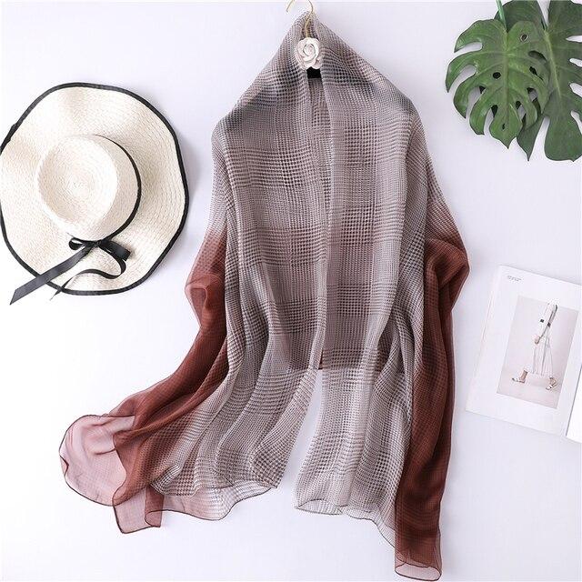 Designer brand women scarf 2019 summer beach stoles large shawls for female pashmina soft foulard bandana hijabs luxury scarves