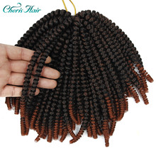 Crochet Hair Spring Twist Freetress 8 Inch 6 Ombre Color Available  Fiber Braiding Synthetic browen Crochet Hair valenwigs crochet braid havana mambo twist crochet hair 22 inch 100g piano color synthetic fiber braiding hair for afro women