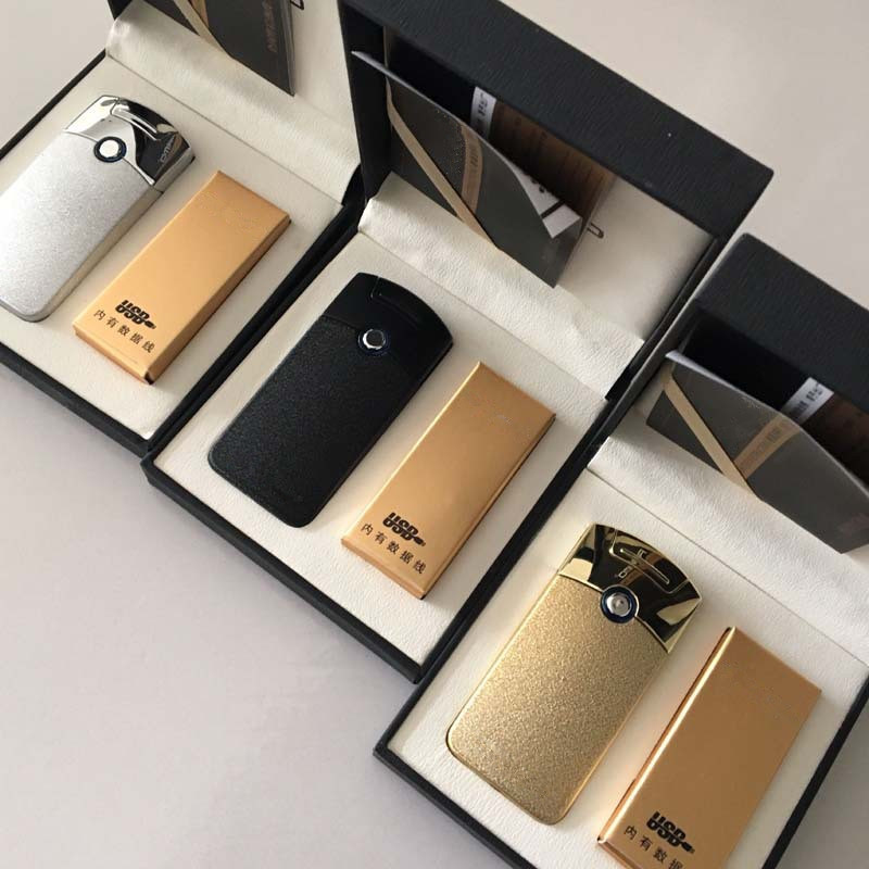 Image 5 - Powerful USB Lighter Rechargeable Electronic Torch Lighter Cigarette Accessorie Plasma Cigar Arc Palse Thunder Lighter Pulse-in Cigarette Accessories from Home & Garden