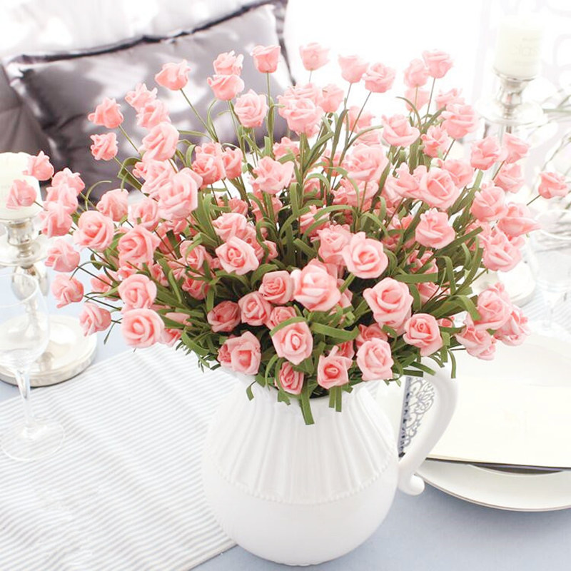 10 Diy Valentine S Day Gift And Home Decor Ideas: 10pcs Handmade Artificial Small Rose Bouquet Valentine's