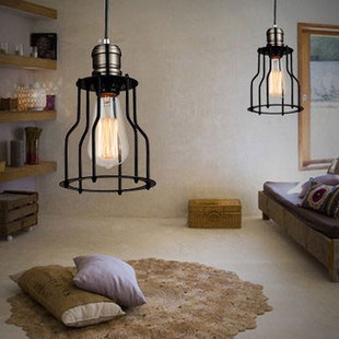 Lovely Light Industrial Warehouse Style Minimalist Style Chandelier Shop Light  Commercial Restaurant Lamp Bedroom Lamp Cage In Pendant Lights From Lights  ...