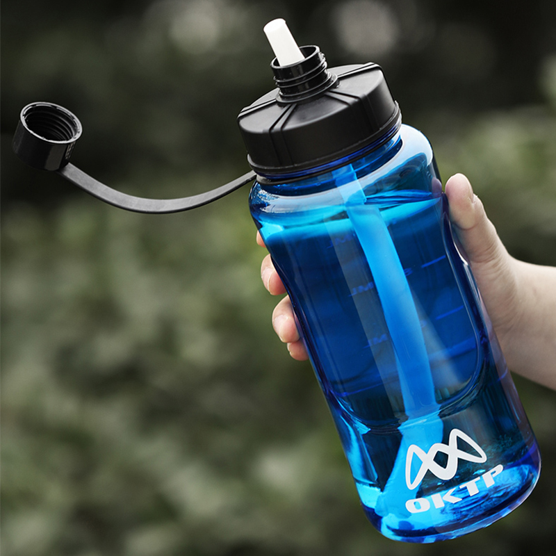Large Capacity Plastic Space Water Bottle for Outdoor Sports Travel Hiking Climbing Bicycle Bottle With Straw Drinkware BPA Free|Water Bottles|   - AliExpress