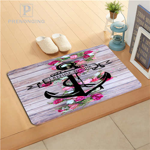 Custom Wood and Anchor Doormat Print slip-resistant Mats Floor Bedroom Living Room Rugs 40x60cm 50x80cm Free Shipping 171120-05