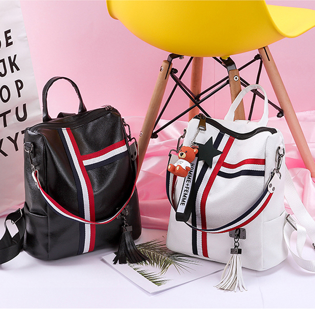 bags for women 2019  new retro fashion zipper ladies backpack PU  Leather high quality school bag shoulder bag for youth bags 1