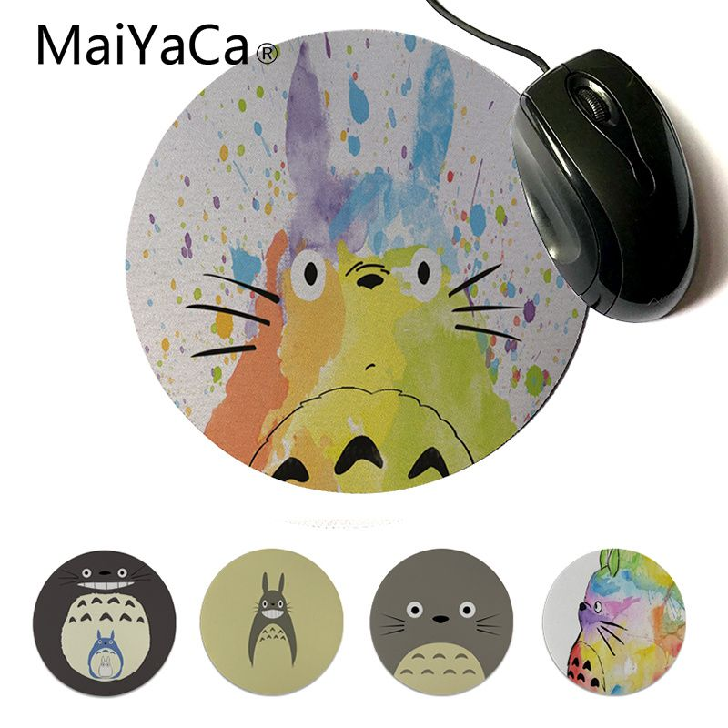 MaiYaCa Vintage Cool Simple Design Totoro Modern Mouse Pads Custom Design Gaming Computer Round Mouse Pads For Lol