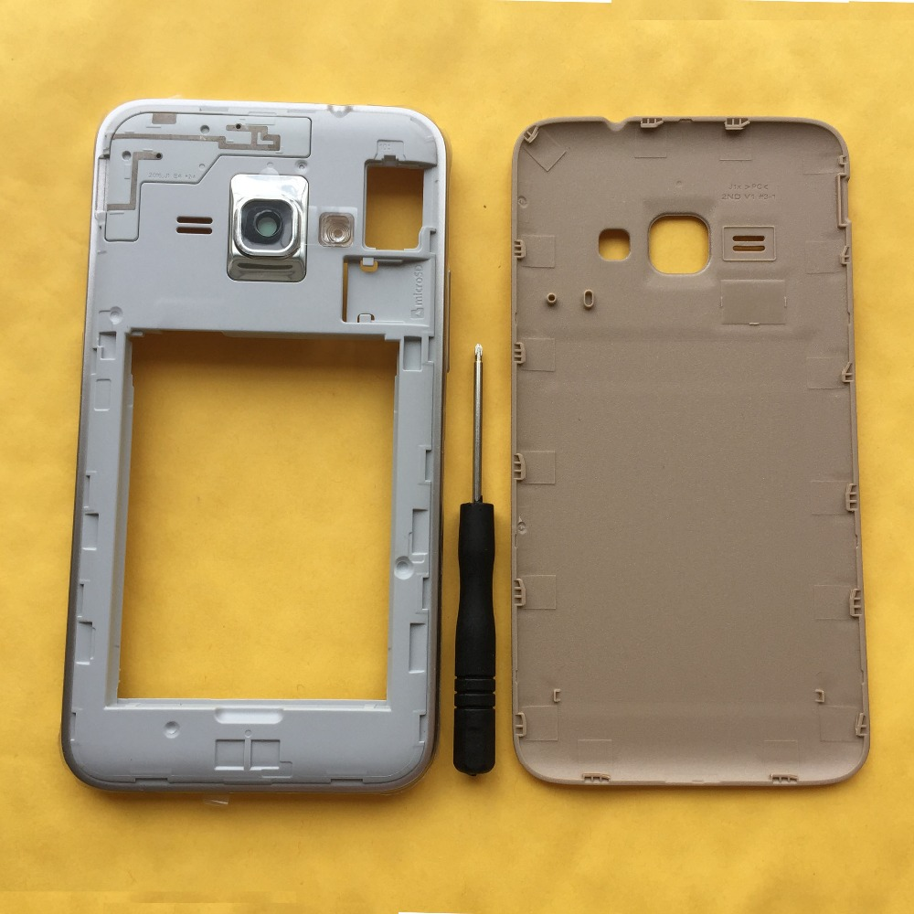For Samsung Galaxy J1 2016 J120a J120 Mobile Phone Chassis Middle 8gb White Frame With Housing Back Cover Rear Battery Door In Housings From Cellphones