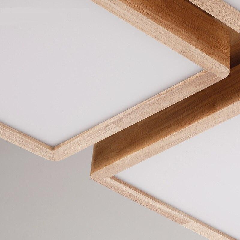 Aliexpress Nordic NEUE Holz Lichter LED Wohnzimmer Schlafzimmer Licht Personalisierte Kreative Deckenleuchte Farbe Deckenleuchten Japanischen Von