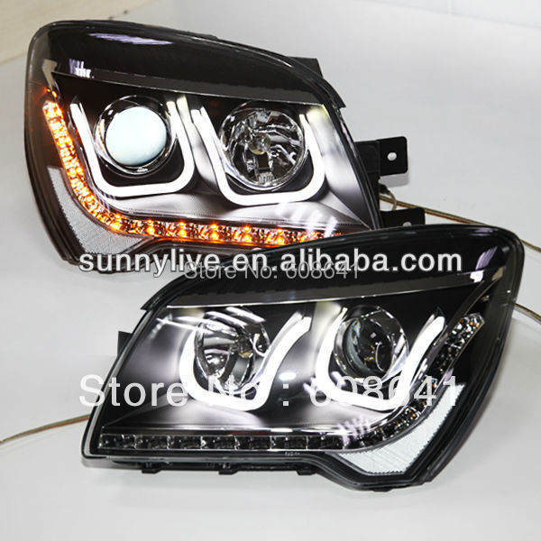 Para KIA Sportage LED Lámpara de cabeza Angel Eyes 2012 U Tipo - Luces del coche
