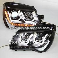 For KIA Sportage LED Head Lamp Angel Eyes 2012 U Type V2