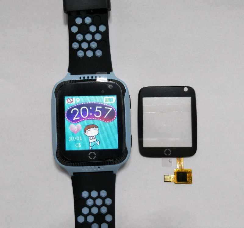 touch glass screen for Q528 Y21 gps tracking watch 1.44 inch It requires professional welding for installation Q529