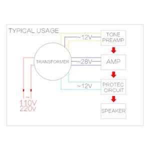 Image 3 - CIRMECH Dual ac 28v 12V single 12v 200W transformer for preamplifer amplifer tone board used 110V 220V optional